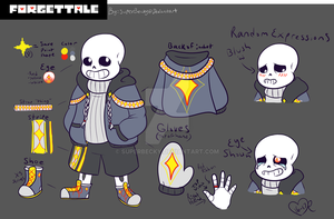 Forget!Tale Sans Design Refrence by SuperBecky