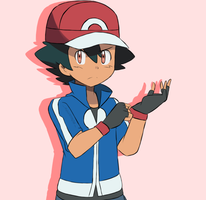 Pokemon XY - Ash Commission by chocomiru02
