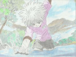 Killua Zoldyck: Catch It Like a Pro - Colored by MegumiOkaya