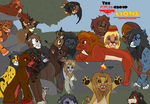 The Psycho group as lions by TLK-Peachii