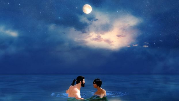Moonlight Skinny Dip by CatkinSvedka