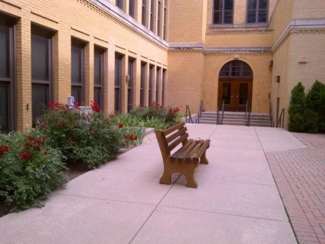 Bench in Courtyard by AWpHarm8D