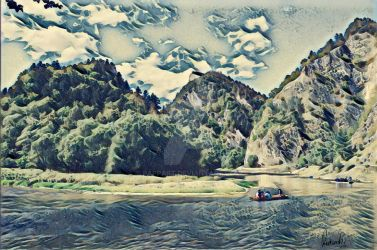 Rafting on Dunajec gorge by Pappart