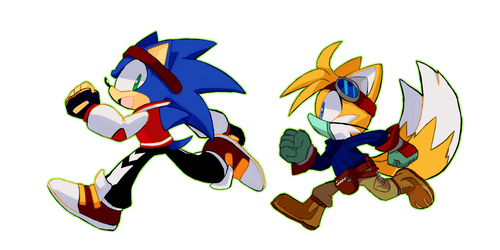 Sonic And Tails by TheDarkShadow1990