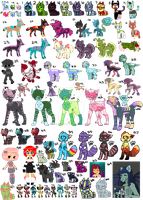 Leftover Adopts Sale OPEN 52/76 MIXED PRICINGS by BebopSparkles
