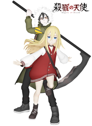 [MMD] Satsuriku no Tenshi - Zack and Rachel 2 by arisumatio