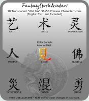 Avatar: Chinese Characters 10 by FantasyStockAvatars