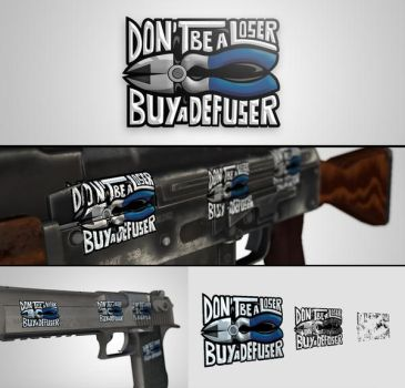 CS:GO Sticker - Don't be a loser, buy a defuser by simpleARTgg