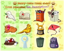 Happy Tails Items Sheet by yugiohfreakXD