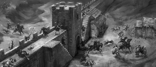 Cthulhu: Picts attack by Merlkir