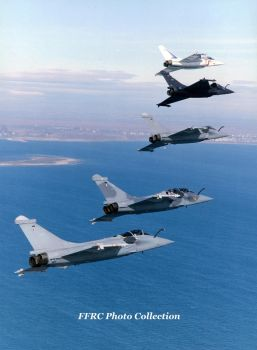All the Rafale prototypes in one formation by fighterman35