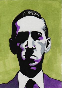 H.P. Lovecraft by MisterSali