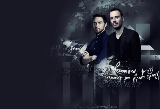 McAvoy and Fassbender by FelisiaLettise