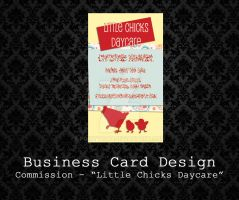 Customizable Business Card - Little Chicks Daycare by PointyHat
