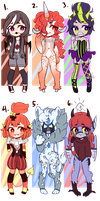 Huamnoid Adopts 4 (Open 3/6) by Quinnadopts