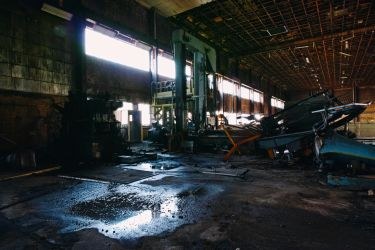 4156 (colour), old AMCOR papermill. by thespook