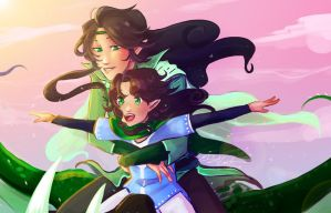 Arya and Flora: Memories by ElizaLento