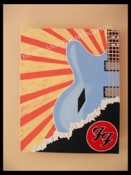 Dave Grohl Foo Fighters Original painting 5 by TheJinMu