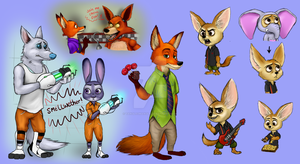 Zootopia Rough Doodles by TangledMangle