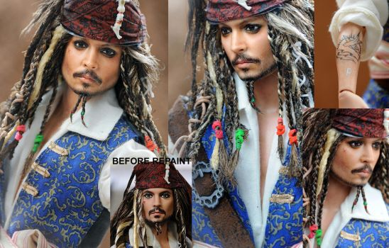 Jack Sparrow doll repaint by noeling