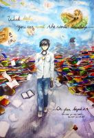 Watercolour : Meaning of Books by chalollita