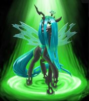 Queen Chrysalis by ThreadandClaws