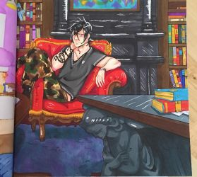 The Mortal Instruments Colouring Book Page 2 Alec by AkatsukiMemberWoolfy