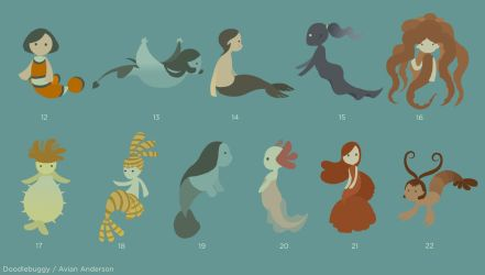 Mermaid Concepts 2 by DoodleBuggy