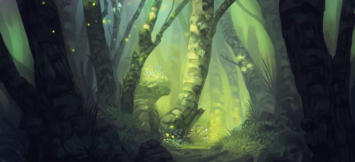 Quiet forest by Paperheadman