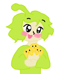 Otekki (Om Nom) with Baby Chicks by MirabelleLeaf31