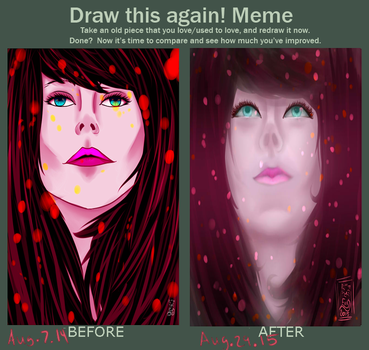 Meme  Before And After by OmegaRedFox