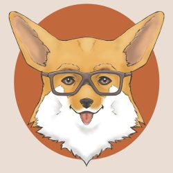 Hipster Corgi by One2See4Five