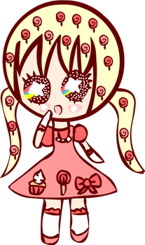 Kawaii Sugary Sweet Pink Lolita Chibi by Faery-Rainbow