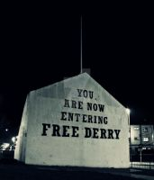 You Are Now Entering Free Derry by Quadraro