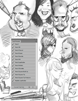Photoshop CS1-CC Pencil Brushes Tool Presets by BerolEagle