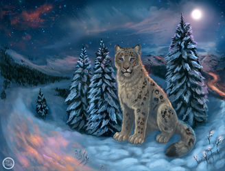 The snow wanderer by FlashW