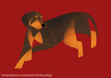 Year of the dog - Slovakian Hound by Kelgrid