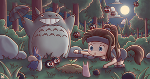 Commission for Neirah and Totoro by Kelsa20