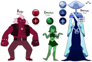 Adoptables LoZ themed GEMS - set2 (CLOSED) by machiavellical