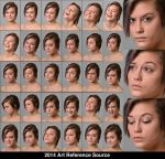 Elena 30 Facial Expressions Stock Comm Use OK by ArtReferenceSource