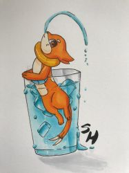 Gift: A Glass of Buizel by SketchHappily