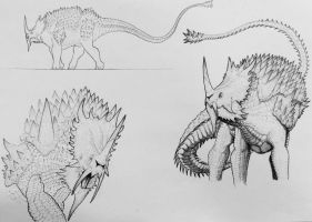 Anguirus: The Impenetrable  by TheGreatestLoverArt