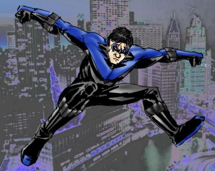Nightwing- by RamonVillalobos