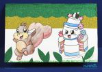Squirrel and Cake by MeMiMouse