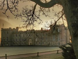 Kimbolton Castle early morning sunrise by davepphotographer