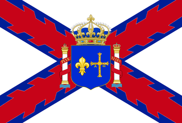 Flag of the Kingdom of France and Spain by DinoSpain