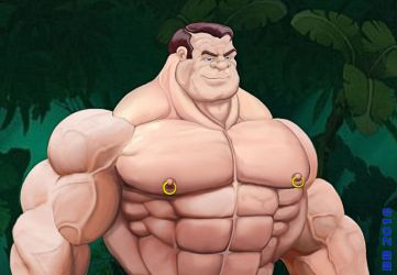 Bluto Barechested by Blathering