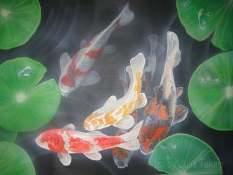 Koi Pond by martoo1973