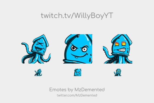 Twitch Emotes for WillyBoyYT by MzDemented