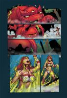 Tyris Flare Vs. Giant 3-Eyed Toad Pg 6 (Final) by zetaxinn
